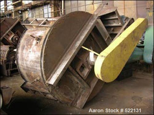 USED: Sturtevant Whirlwind mechanical air classifier, 6' diameter,carbon steel construction, rated 10-175 cfm, rated up to 1...