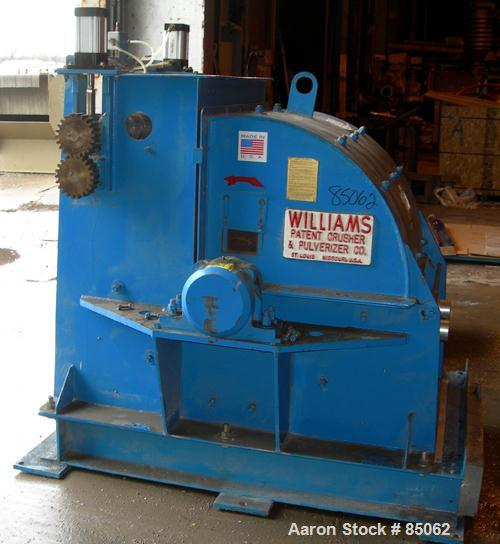 "USED: Williams Meteor hammermill, model 26, carbon steel. 32"" diameter x 28"" wide rotor with 12 rows of (28) 2-1/2"" wide x 1..."