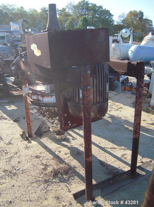 """Used- Entoleter Centrimil Impact Mill, Model FTM, Catalog# B-51500-146, Carbon Steel. 4"""" diameter feed and discharge connect..."""