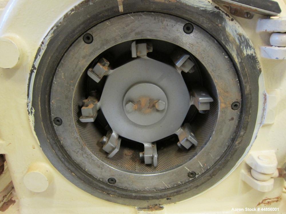 Used- Hosokawa Alpine UPZ Fine Impact Mill, Model 250 UPZ, Carbon Steel. (1) Swing type beater with (8) bolt on tip blades, ...