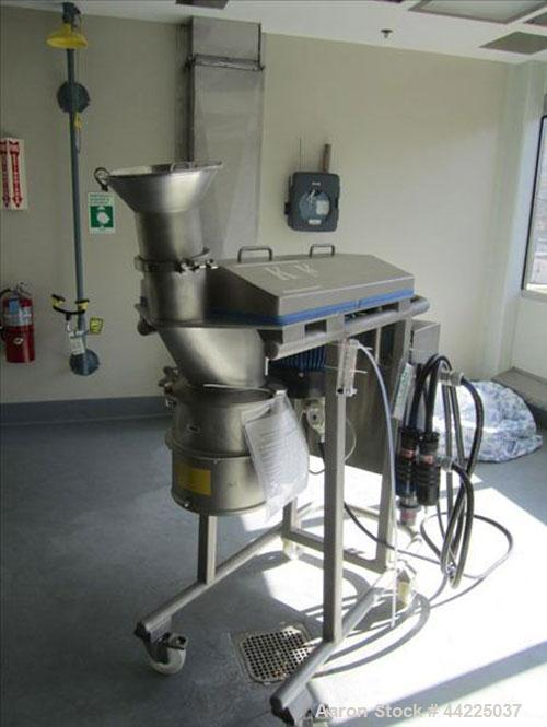 Used- Kemutec Cone Mill, Model KEK 220, Stainless Steel. On portable base, 5 hp, 460 volt, 1700 rpm belt drive.