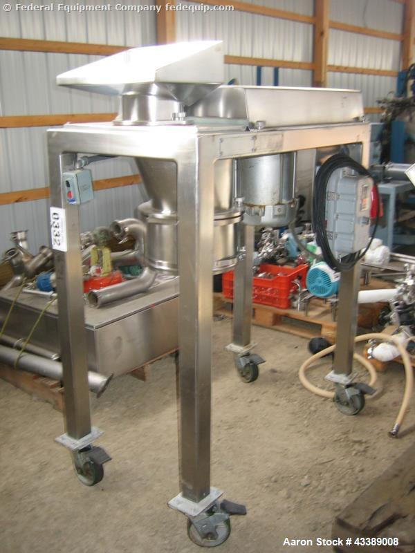 Used- Quadro Comill, Model 196S, Stainless Steel. Equipped with a 7.5hp, 3/60/460 volt motor.