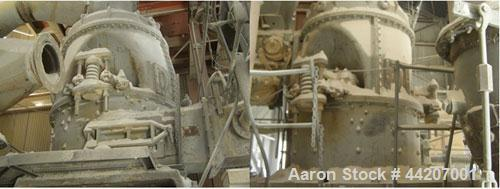 Used-Raymond Bowl Mill Pulverizing Crusher, Model 453.  4400 lbs/hour at -200M. Raymond discharge fan.  Reported to be recon...