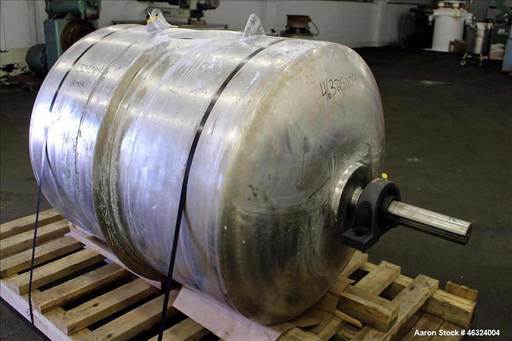 "Used- Jar Mill Body Only, Approximately 250 Gallons, 304 Stainless Steel, Horizontal. Approximately 39"" diameter x 45"" strai..."
