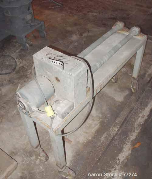 """Used- Jar Rolling Mill. Can handle approximate 6"""" diameter jars, rollers 24"""" long. Driven by a 1/6 hp, 1/60/115 volt, 1140 r..."""