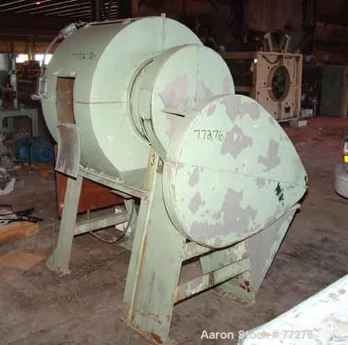 "Used- Jar Rolling Mill. 2 Tier, 4 rollers 2"" diameter x 12"" long. Driven by an approximate 1/6 hp motor. (4) 4"" Diameter x 4..."