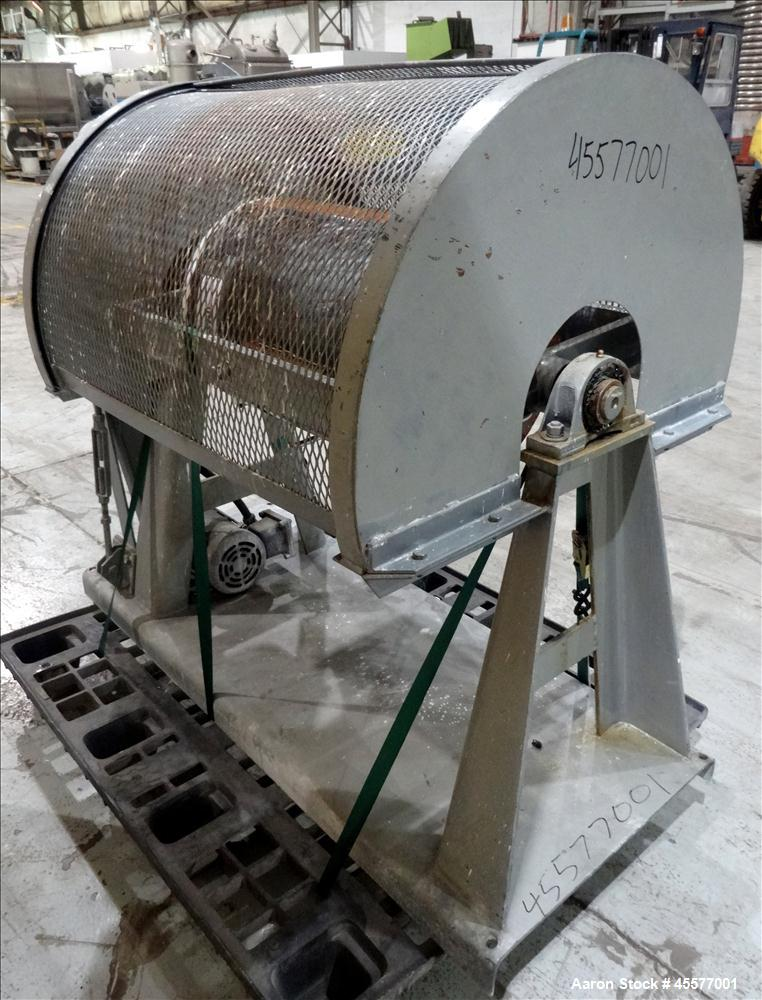 Used- Stainless Steel Paul O. Abbe Pivoting Jar Mill, Model EM533