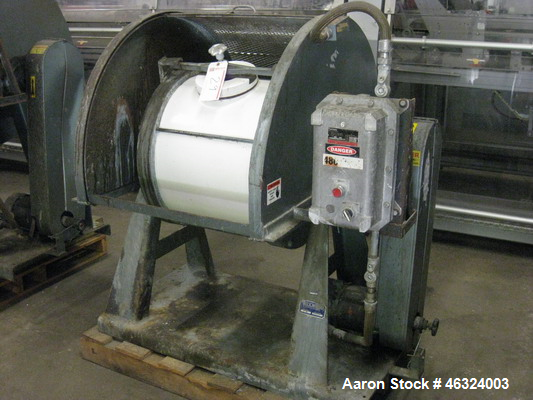 "Used- Paul O. Abbe Trunnion Mounted Jar Mill, Model 5. Total volume 24.25 gallons. Porcelain jar 20-1/2"" diameter x 17"" stra..."