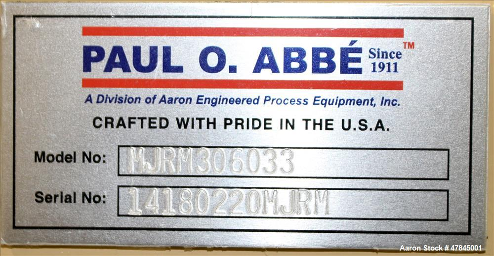 Unused- Paul O Abbe Modular Jar Rolling Mill