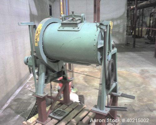 "Used-Paul Abbe Jar Rolling Mill, Model MJRM3x60x2x2 306020. 60"" rolls, 2 rolls; motor 2 hp."