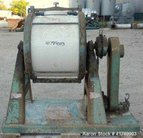 """Used- Paul O Abbe Ceramic Jar Mill, 24 1/2 Gallon (3.24 Cubic Feet). 20 1/2"""" diameter x 17"""" straight side. 6 1/2"""" top charge..."""