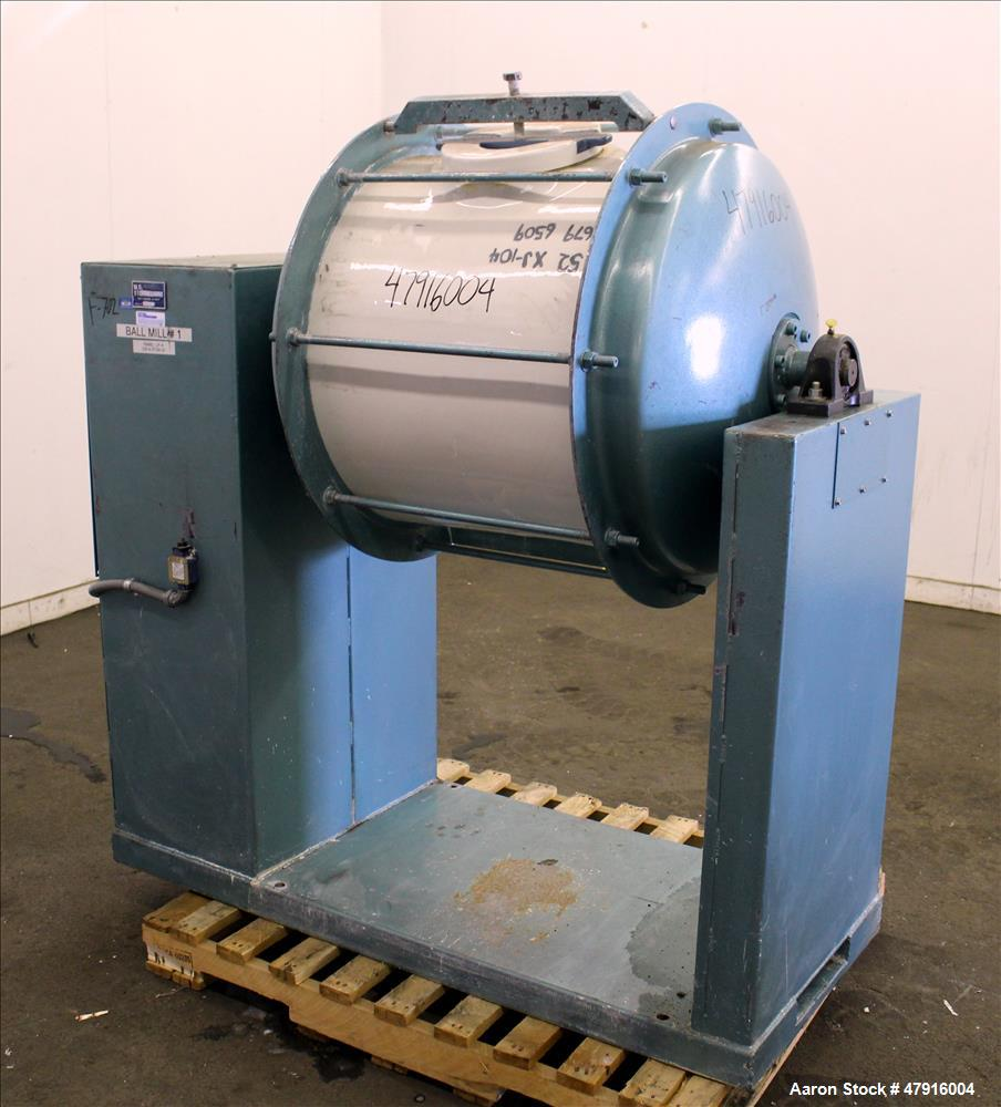 Used- U.S. Stoneware Ceramic Jar Mill, Approximate 52 gallon capacity.