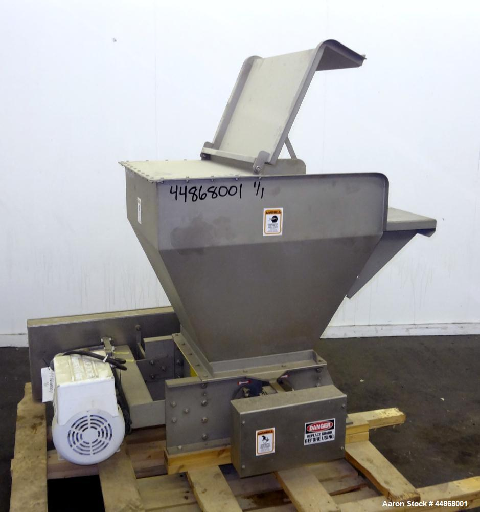 "Used- Machine & Process Design Dual Rotor Crusher Lump Breaker, 304 Stainless Steel. Approximate 18"" x 18"" feed throat with ..."