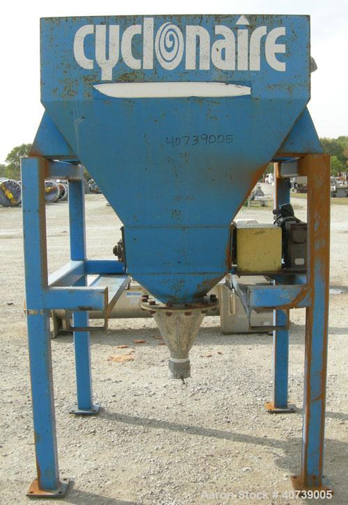 "Used- Cyclonaire Lump Breaker, dual rotor, carbon steel. (2) 1 1/2"" diameter shafts with pins, bottom stationary bars. Drive..."