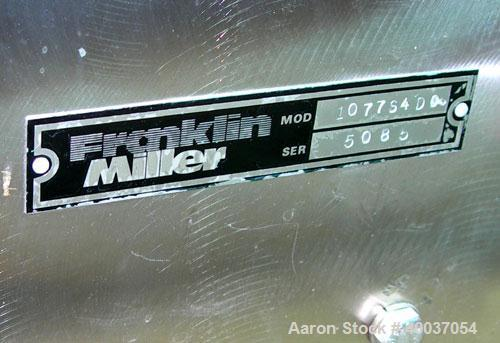 "Used- Franklin Miller Delumper, Model 1077S4DC, stainless steel. Sanitary design. Approximately 8"" diameter x 12"" wide rotor..."