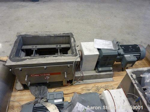 "Used-Gericke Nibbler NBS 300/450, stainless steel. Inlet opening 11.8"" x 20.8"" (300 x 530 mm), with new sieve, perforation 0..."