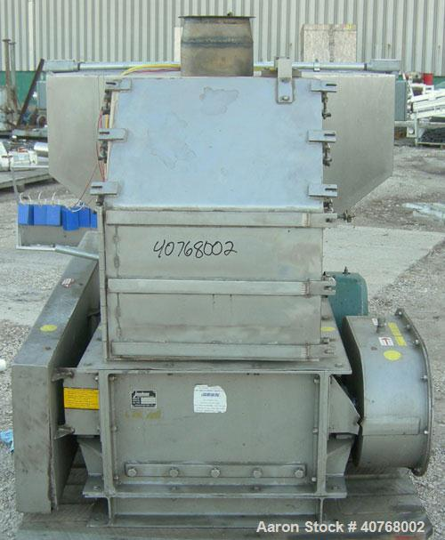 "Used- Jacobson Dual Rotor Full Nelson  Crusher, Model 2424DR.FNC, 304 stainless steel. (2) 3"" diameter shafts with 3/4"" thic..."