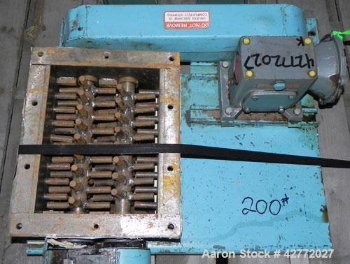 """Used- Jacobson Dual Rotor Lump Breaker, Carbon Steel. 12'' x 8-7/8'' Feed opening. (2) Approximately 1-1/4"""" diameter shafts ..."""