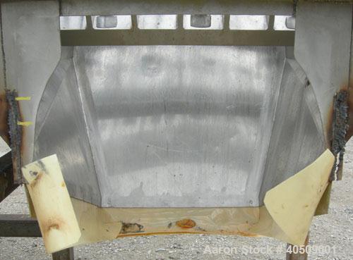 """Used- Lump Breaker, dual shaft, 304 stainless steel. (1) 4"""" diameter shaft with (7) 3 blade hook style knives, (1) 4"""" diamet..."""