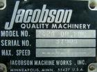 Used- Jacobson Dual Rotor Full Nelson Crusher, Model 2424DR.FNC, 304 stainless steel. (2) 3