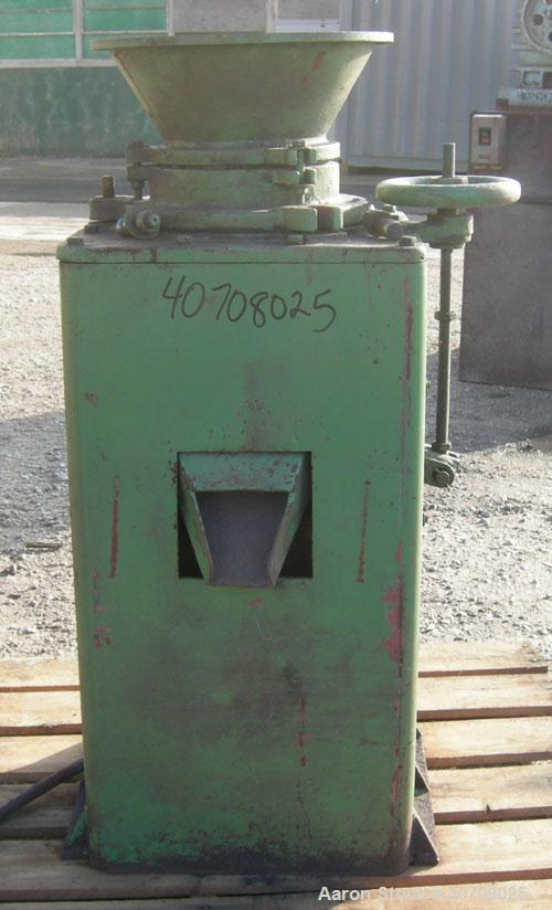 "Used- Denver Equipment Size #2 Coffee Mill/ Cone Crusher, carbon steel. Approximate 12"" diameter chamber with cone. Top feed..."