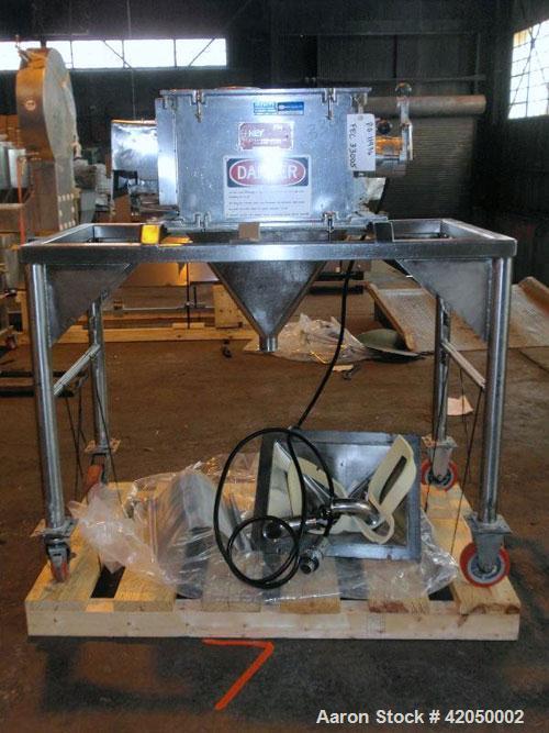 Used- Frewitt Oscillating Granulator, Type MGIF-634, stainless steel. Feed hopper, 1 kW 440 volt XP motor, on portable base,...
