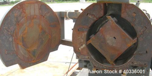 """Used- Thomas Wiley Cutting Mill, model 4, carbon steel. 141 cubic inch chamber. 7-3/4"""" diameter x 3"""" deep 4 bolt on blade ro..."""