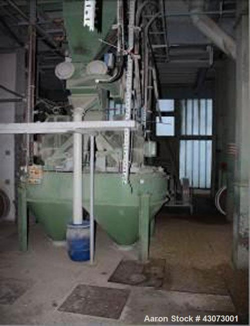 """Used- Buhler Type """"Vertica"""" Double Rotor Mill, Type DFZH2.  Material of construction is stainless steel on product contact p..."""