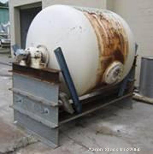 """USED: Netzsch alumina lined pebble mill, 5' diameter x 4' long, dish ends. Actual inside diameter is 4'9"""". Acutal straight s..."""