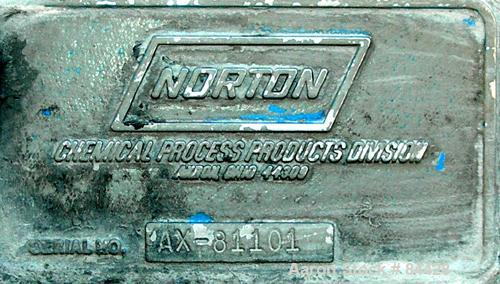 Used- Norton Pebble Mill, Carbon Steel/Rubber Lined Jacketed Chamber Rated 14 ps