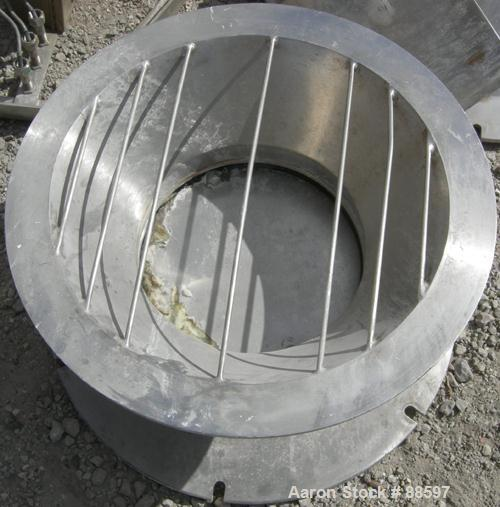 """Used- Paul O Abbe Pebble Mill, Model #1, 304 Stainless Steel Sroduct Contact. 68"""" Diameter x 56"""" straight side. 117 Cubic fe..."""