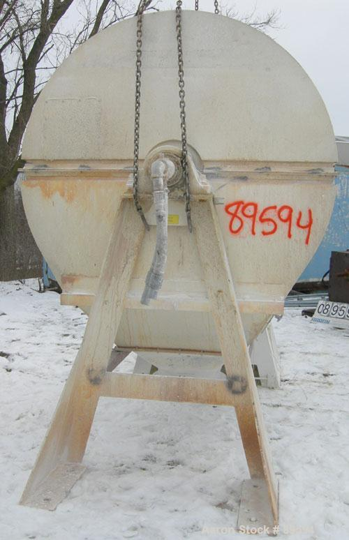 "Used- Paul O Abbe Pebble Mill, Model 4B, Carbon Steel, Alumina Lined. Jacketed chamber 48"" diameter x 60"" long. 11"" x 14"" ch..."