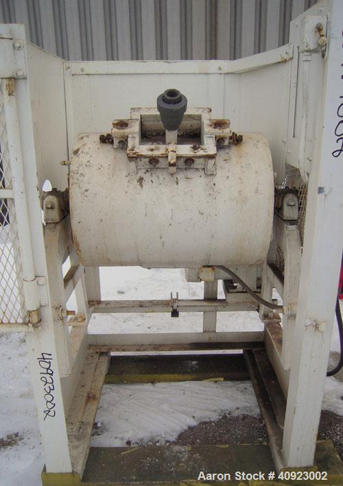 "Used- Paul O Abbe Ball Mill, Carbon Steel. Non-Jacketed ceramic lined horizontal chamber 18"" diameter x 24"" long. 7 1/2"" x 9..."