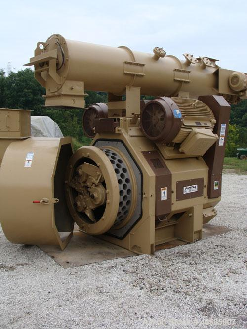 "Used-Bliss Pioneer 34"" Pellet Mill. 400 hp, new belts, bearings, die, rolls and paint. Manufactured 1999. Includes stainless..."