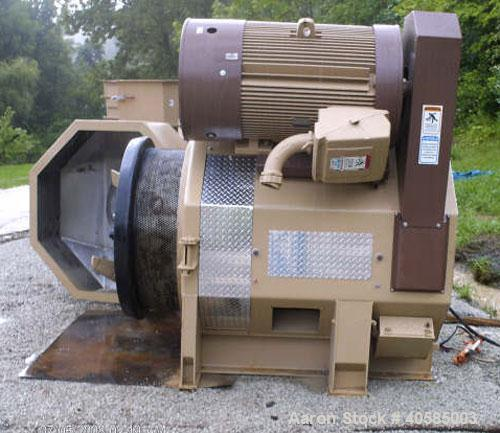 "Used-34"" Bliss Pioneer Pellet Mill, 400 hp, new belts, bearings, die, rolls and paint. Mfg 1998. Includes stainless steel fe..."