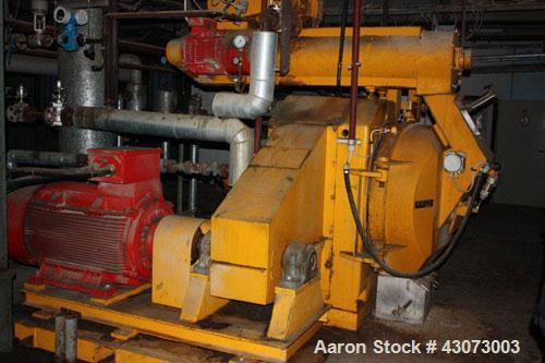 "Used- Buhler DPAA Pellet Mill. Total capacity 7.5 t/hour, total throughput performance 47 m3/hour, press rolls 12.5 x 7.1"" (..."