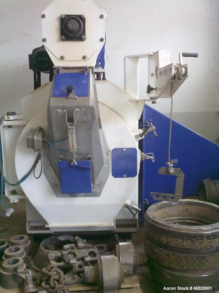 Used- Buhler Pellet Mill, Model DPBA. 520mm Internal diameter of pellet die, 138mm active width of pellet die. 182mm total d...