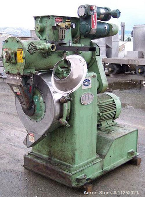 Used-California Pellet Mill, Model CMF-MF5.  Driven by a 30 hp, 220/440 volt, 1770 rpm motor.  Previously used at an herbal ...
