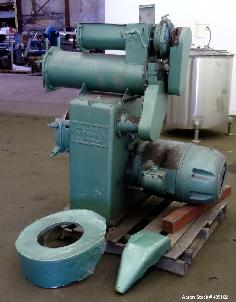 Used- California Pellet Mill, Carbon Steel.