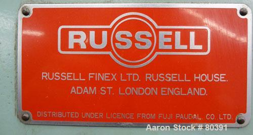 Used- Fuji-Paudal-Russell Finex Ltd Twin Screw Wet Granulator Extruder, Type EXDS-60