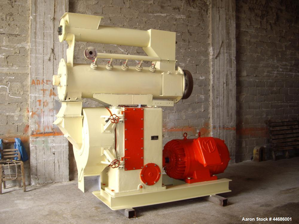 "Used-Simon Barron Century Pellet Mill with conditioner and (6) dies.  Motor 150 hp (111 kW).  Die inside diameter 16"" (407 m..."