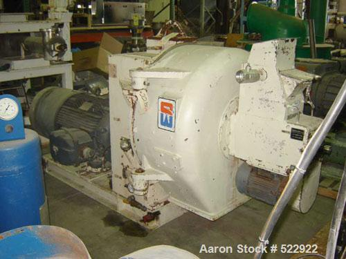 "USED: 200 hp Sprout-Bauer pellet mill, stainless steel contact parts,model #21NW-250. 44"" diameter, 9"" door inlet, 15"" stain..."