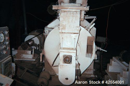 """Used- Sprout 21-NVW-250 V-Belt Pellet Mill. 200 hp, 1200 rpm electric motor, 460 volt. Includes 21"""" new die with 1.5 effecti..."""