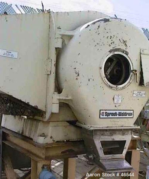 Used- Sprout Waldron model 501G pelletizer. Stainless steel product contact parts. With model 20 x 58 stainless steel condit...