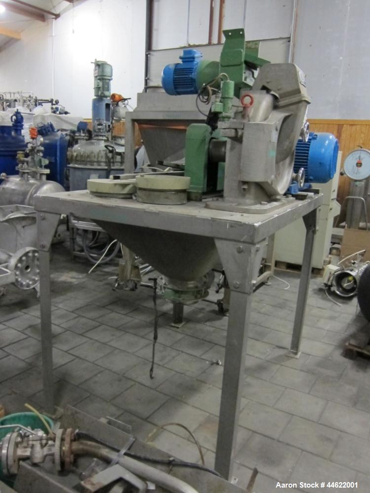 Used- Alpine Mill, Model 315UPZ, stainless steel construction. Mill speed 9000 rpm. 29.3 Hp/22 kW motor, 50 Hz, EX. Includes...