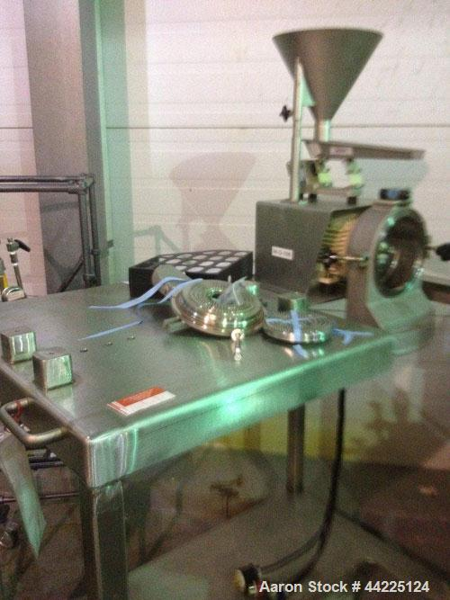 Used- Bauermeister Lab Mill, Model ULD. Stainless steel construction, pin mill design, approximately 1 kw motor with vibrati...