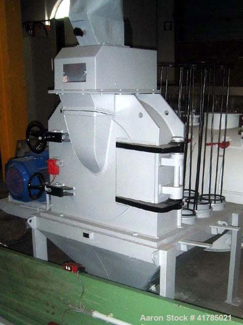 "Used- Gruber Hermanos 24-AP pan mill, cast iron, duplex 24-AP and sic mill, 14.2"" (360 mm), diameter rotor with 4 rows of 0...."