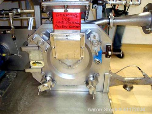 Used- Kemutec Universal Mill, Stainless Steel. Approximately 400 mm diameter. Can be used with pin or beater blades. Main mo...