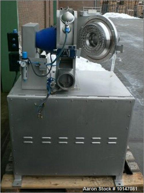 Used-Netzsch-Condux Hanau Pin Disc Mill, type CUM 250/SP-DSF (= Druckstossfest). Material of construction is 316L stainless ...