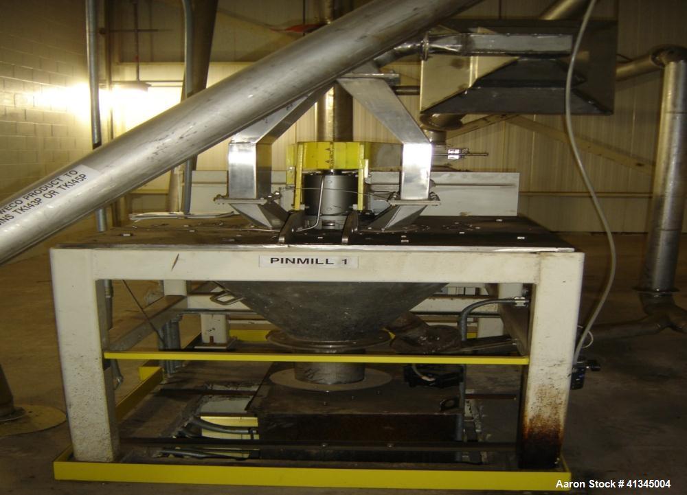 Used-Sturtevant Pin Mill, Model 6 Simpactor
